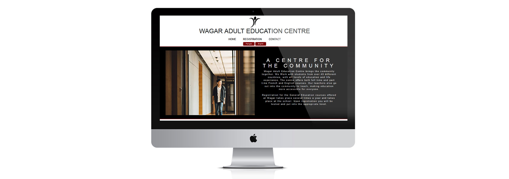 Landing page of Wagar Adult Education Centre