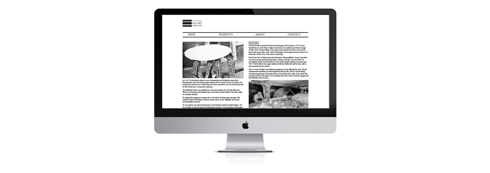 Website design for Papeterie Saint Armand