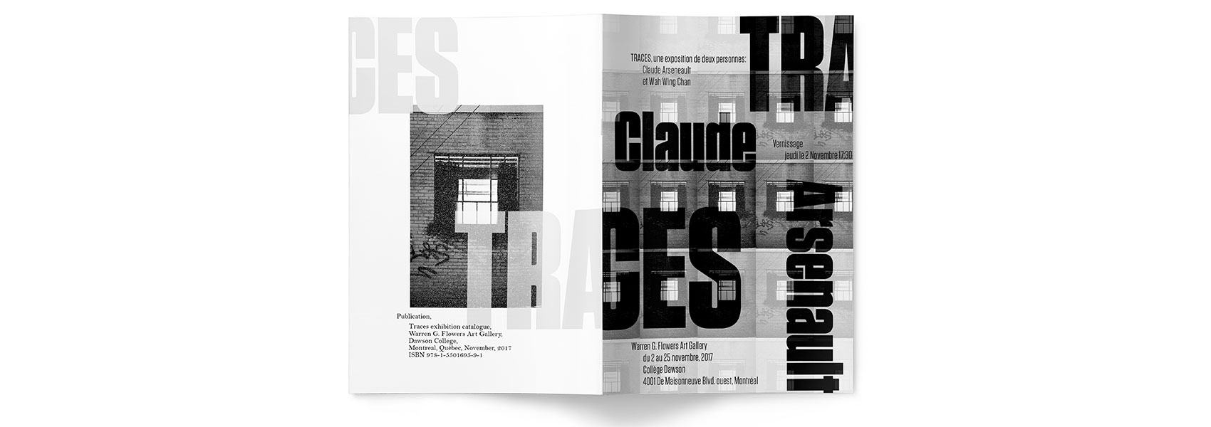 Front and Back Cover of Catalogue featuring Claude Aresenault's Print